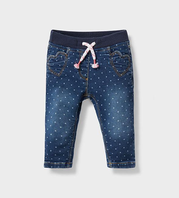 Les premiers jours avec bébé - Pantalon pour bébé aspect jean à points